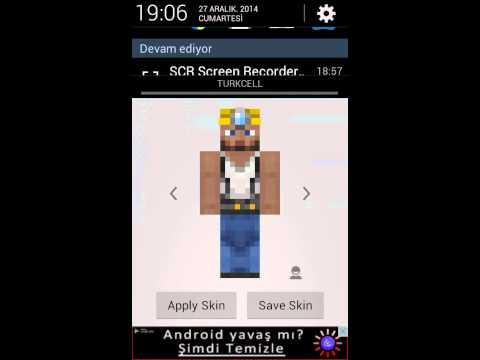 Minecraft pe 10.4 nasıl skin değiştirilir