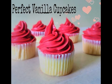 Perfect & Moist Vanilla Cupcakes Recipe | Easy Cupcakes from Scratch