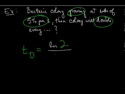 Section 1.7.1 Doubling Time and Half-Life Formulas
