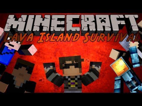 Minecraft : Lava Island Survival 1 /w Friends!