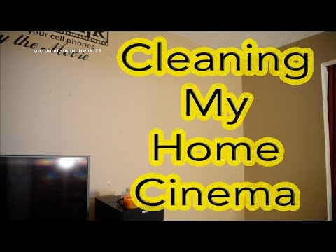 Cleaning My Home Cinema & Buying A New Concession Stand