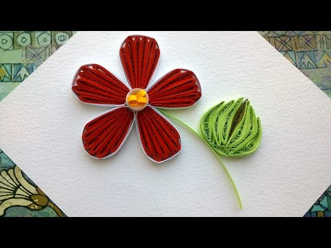 Quilling designs flowers: How to make a paper Quilling design flower with comb.