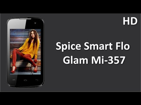 Spice Smart Flo Glam Mi-357 Online with 3.5 inch HVGA Display, 1 GHz Dual Core Processor