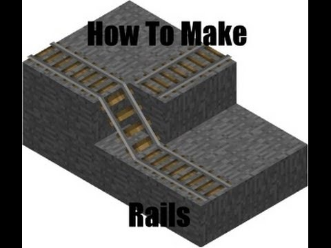 How To Make Rails, Powered Rails,and Detector Rails (Minecraft Tutorial #9)