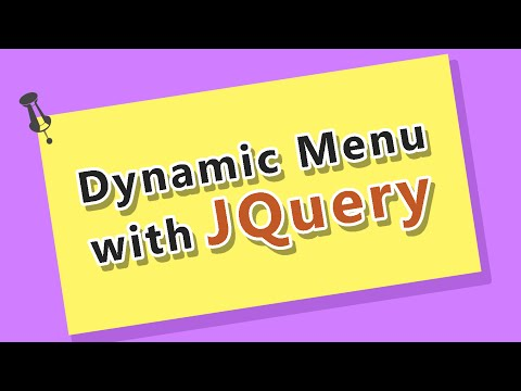 jQuery Tutorial - Building a Dynamic Main Menu