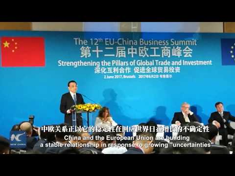 "China, EU build stable relationship in response to growing ""uncertainties"": Li Keqiang"