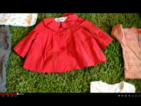 Baby Consignment Event Haul (second Hand baby clothes) March 2012