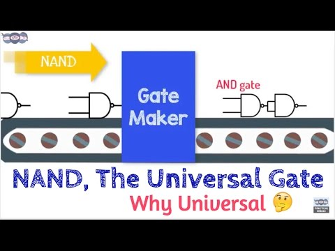 NAND gate | Universal Gate | Building logic gates using NAND gates | DE.14