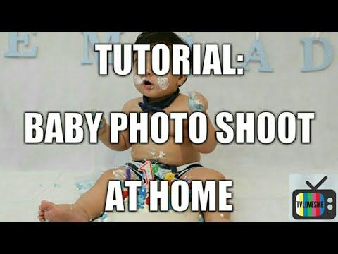 How To Do A Baby Photoshoot At Home | Cake Smash Version | TVLovesMe Tutorials