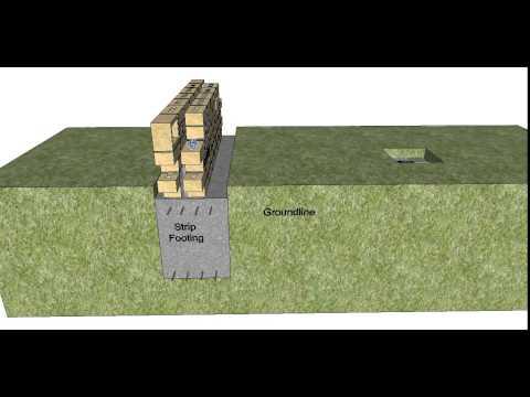 Section Through a Double Brick Building Part 1