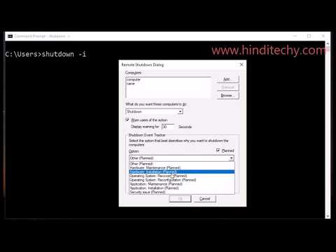 How to remotely shutdown a computer with cmd windows 10 7 | Restart remote computer