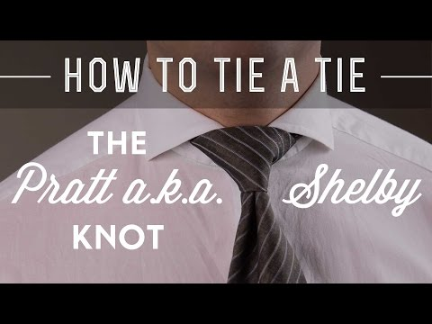 How To Tie A Pratt a.k.a. Shelby Knot & What Shirt Collar To Wear It With