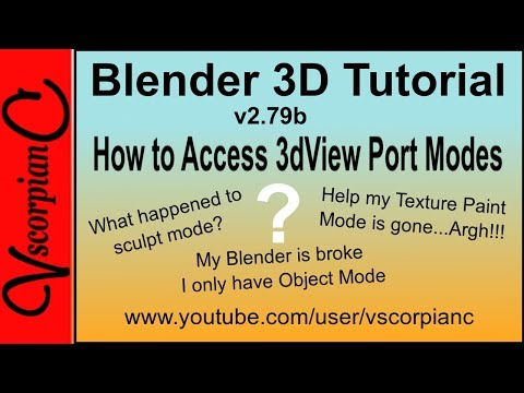 Blender 3d Tutoial - Beginners 3DView Port Modes by VscorpianC