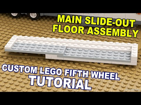 Tutorial - Lego Fifth Wheel Main Slide Out Floor Assembly (8 - 12) [CC]