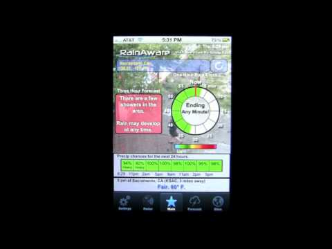 RainAware Weather iPhone App Review - CrazyMikesapps