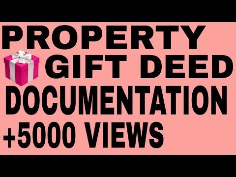 Gift Deed,Property Gift 🎁