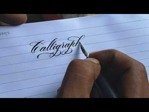 Beautiful handwriting with copperplate nib l copperplate Calligraphy
