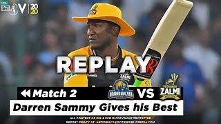 Daren Sammy Batting Highlights | Karachi Kings vs Peshawar Zalmi | Match 2 | HBL PSL 5 | 2020 | MA2