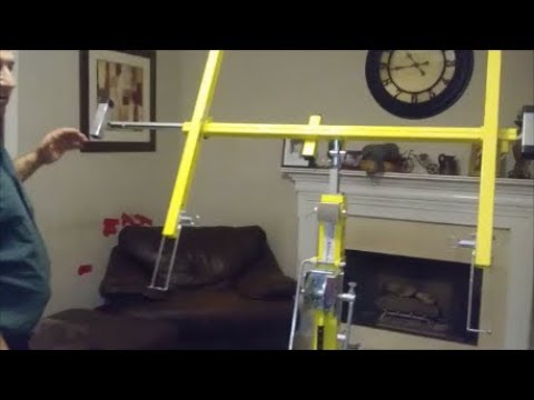 How To install and Use Drywall Lift - Step By Step  - For Dummy