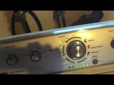 How to put Maytag Washer into Diagnostic mode and run a test cycle. Washing machine. Whirlpool Amana