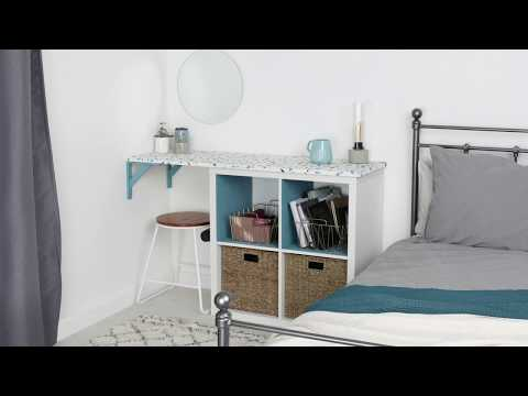 How to create a personalised desk using a clever cube | Decorating ideas | Homebase