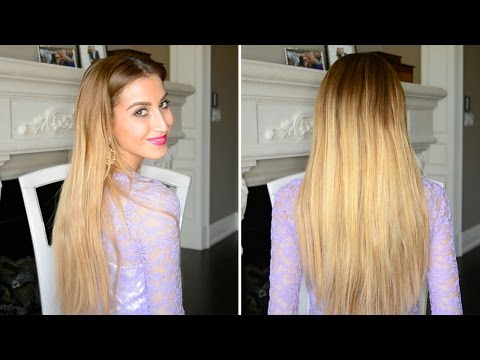 How to Clip In Hair Extensions WITHOUT Teasing!