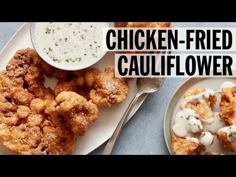 Crispy Chicken-Fried Cauliflower | Food Network