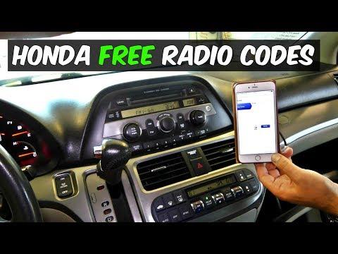 HONDA RADIO CODE FOR FREE
