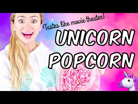 How to Make Unicorn Pink Popcorn | Tastes Like Movie Theater | DIY