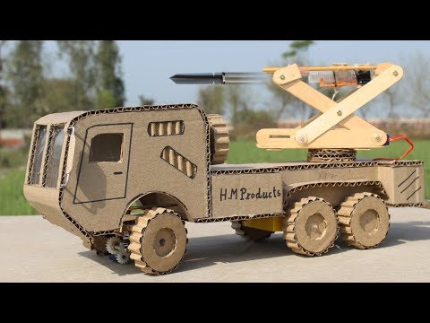 How to Make RC Missile Launcher Truck From Cardboard at Home ! DIY Truck