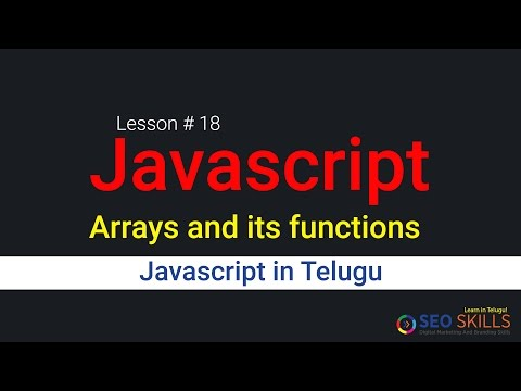 Javascript arrays intro tutorial in Telugu