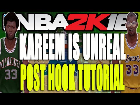 Kareem is Unstoppable! Skyhook/Hookshot Tutorial (NBA 2K16 Kareem Abdul-Jabbar Gameplay)