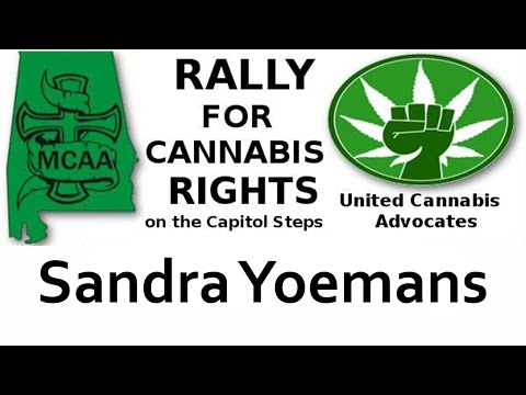 Sandra Yeomans speaks at the rally for Cannabis Rights September 8, 2016