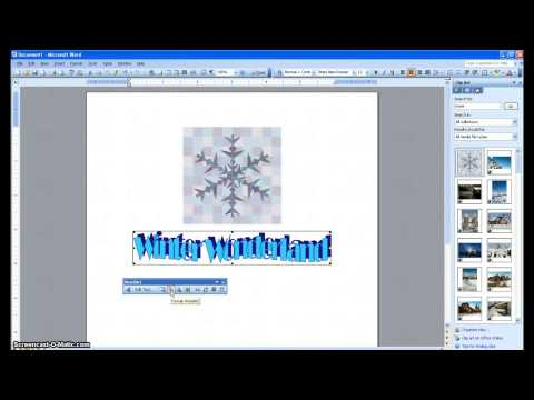 Inserting Pictures, ClipArt, and WordArt into Word