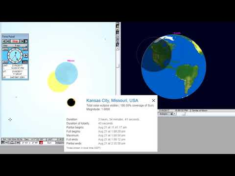 Kansas city - Animation of the Total Solar Eclipse August 21, 2017