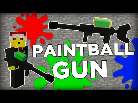 Paintball Gun in Minecraft!