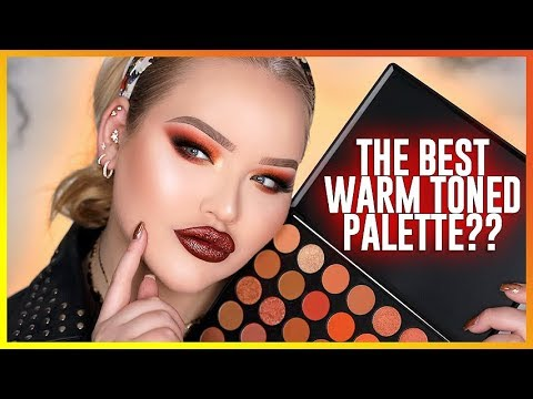 THE BEST AFFORDABLE WARM-TONED EYESHADOW PALETTE?? | NikkieTutorials