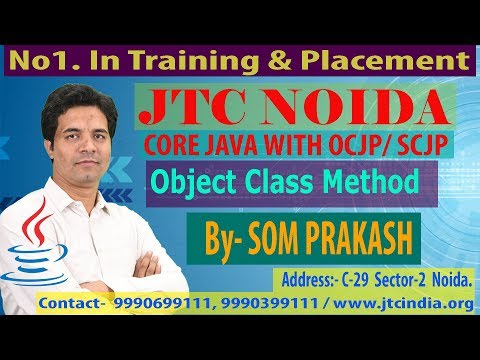Java.lang Package   Object Class   GetClass  Method in Java -Part-2/50 by Som Sir