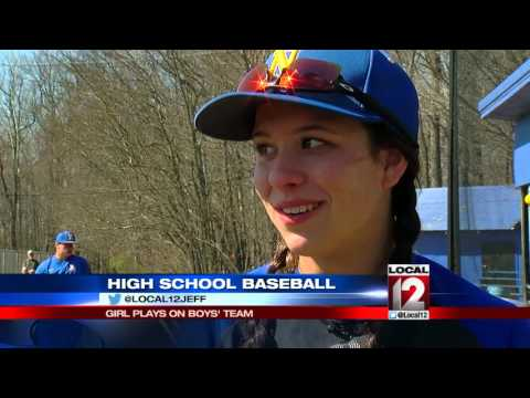Girl plays baseball on boy's JV high school team