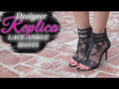 ANKLE BOOTS - EASY DIY LACE BOOTS