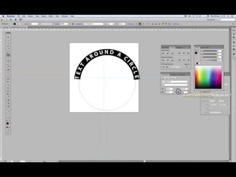 Text around a circle tutorial - Illustrator CS5