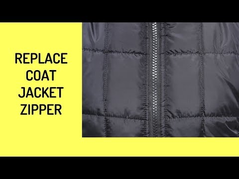 How To Replace A Winter Jacket Zipper  - Trailer