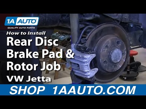 How To Install Do a Rear Disc Brake Pad and Rotor Job 1999-06 VW Jetta