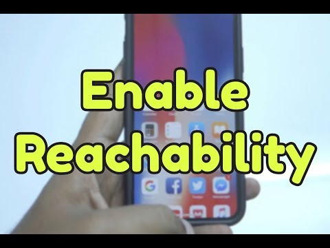 HOW TO: Enable Reachability on iPhone X?