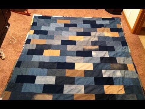 Brick Wall Blues: Denim Quilt  Pt. 1