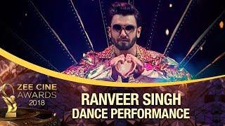 Most ENERGETIC | Ranveer Singh | Zee Cine Awards 2018