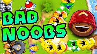 Battling BAD NOOBS?! - Bloons TD Battles