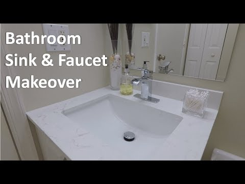DIY Vanity Sink and Faucet Replacement