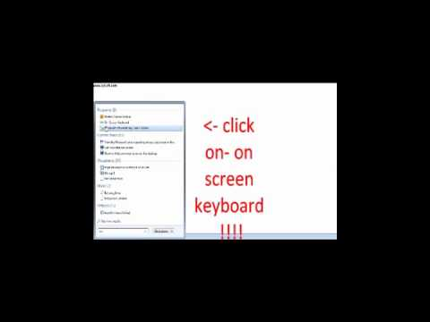 how to get a on screen keyboard on  windows 7