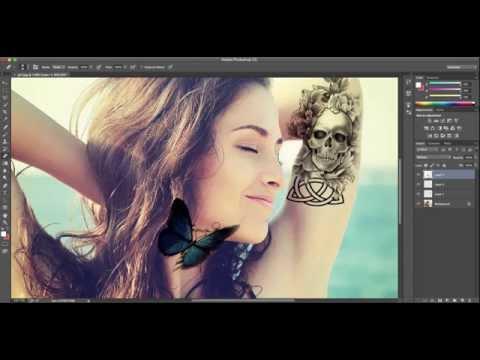 Sleeve Tattoo Timelapse - Photoshop CC Style - HD